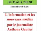 Conférence du journaliste Anthony GAUTIER