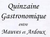 2ème édition de la Quinzaine Gastronomique