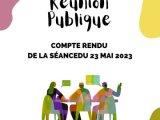 Réunion publique Mardi 5 octobre 2021